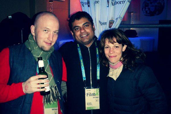 Joel Pomeroy, Joseph Mathew & Lili Taylor at Sundance
