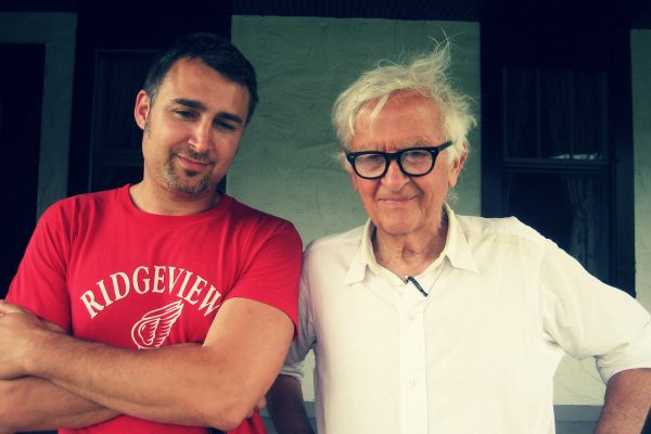 Andrew Jacobs and Albert Maysles at Four Season Lodge