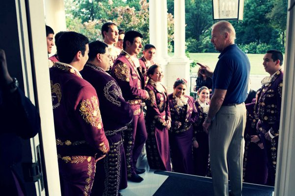 Mariachi Halcon with Joe Biden in DC